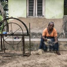 Seilherstellung aus Kokosfasern